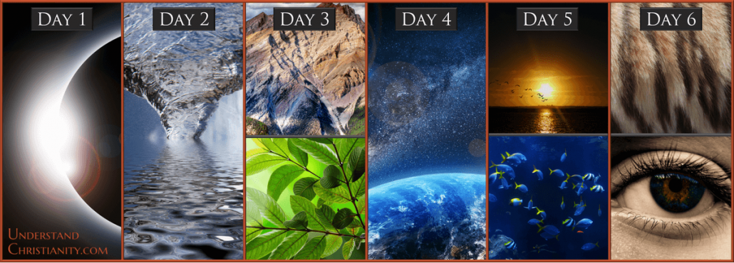 Genesis 7 Days Of Creation Story Stories Clipart God Creation Pencil And In Color Stories 6
