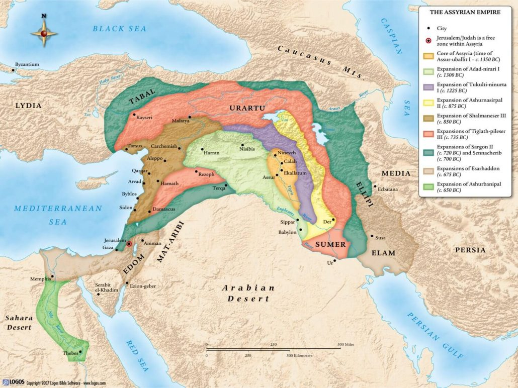 assyrian empire This video is a map animation depicting the rise and the fall of the neo-assyrian empire.