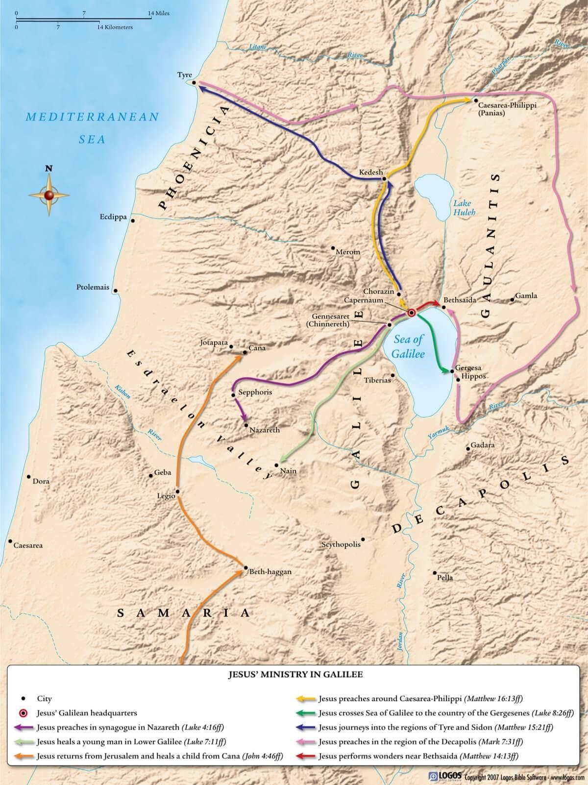 Jesus Ministry in Galilee