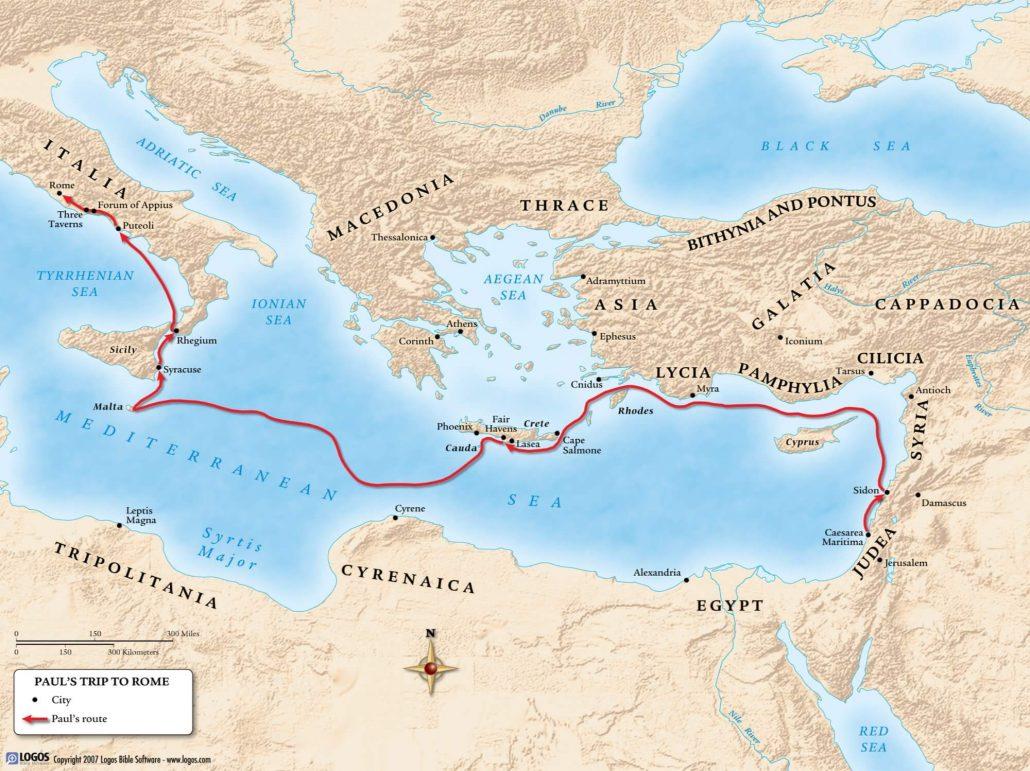 Paul's Trip to Rome